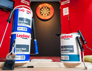 Leyland delights darts team wth dazzling finish